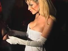 Submissive blonde skank Celia Blanco loves BDSM games