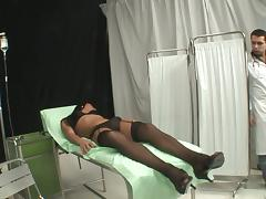 Sexy Shemale Gets Her Yummy Cock Sucked By Her Doctor