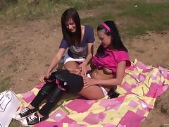 Scrumptious Angelica Black And Megan Have A Lesbian Picnic