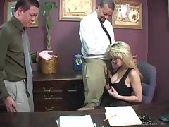 Sweet Tiffany Tanner Gets Fucked In Her Office Next To Her Her Cuckold