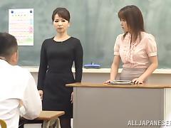 Classroom, Asian, College, Japanese, Masturbation, MILF