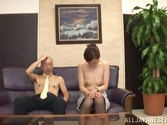 Asian Hottie Gets A Nasty Cumshot After A Hot Blowjob