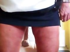 Horny mature woman enjoys with dildo