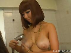 Busty Japanese Girl Has Soapy Fun in the Bath