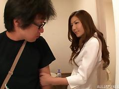 Horny Asian Babe Gives A Hot POV Blowjob And Rides His Hard Cock