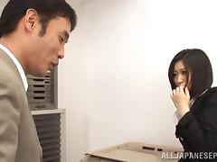 Hot milf Yuuka Tsubasa gets fucked in the office