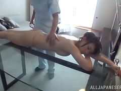 Japanese Babe Gets Fingered During A Nasty Oily Massage