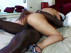 Ebony anal action