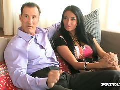 A hot threesome with the hot babes Anissa Kate and Kira Queen