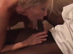 Hot mature blond rides bbc