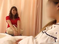 Japanese teen shows off her sexy body while being fucked