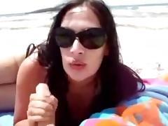 pipe discrete a la plage