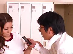 Japanese Locker Room Hardcore Blowjob Action