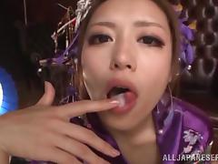 Glorious Ayu Sakurai Swallows A Dude's Jizz In A POV Video