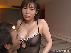 Nanako Mori comley Japanese milf pov blowjob