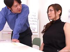 Yuna Shiina is eaten out before giving head and facialized