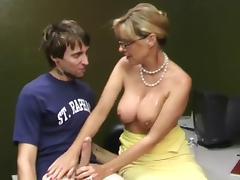 mature woman milks his penis WF