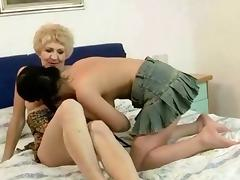Mom and Boy, Cunt, Granny, Kissing, Lesbian, Lick