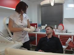 Horny Nurse Gives Her Patient a Blowjob and Some Pussy