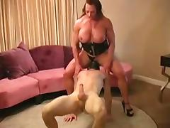 Muscle, Big Tits, Blowjob, Boobs, Couple, Femdom