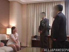Office, Asian, Banging, Foursome, Gangbang, Group