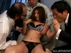 Yuna Shiina loves riding cocks in hardcore gangbang clip