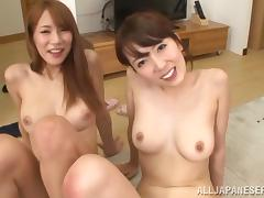 Two Sexy Japanese Girls Have a Threesome with a Very Lucky Guy