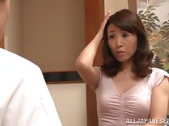 Sexy Japanese Cougar 69's Then Rides Her Man's Cock