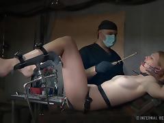 insane gynecologist torment a hottie