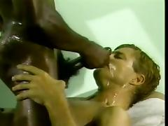 Interracial Gay Couple Works Up a Sweat Fucking and Cumming