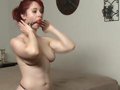 Bondage, BDSM, Bondage, Bound, Leather, Redhead