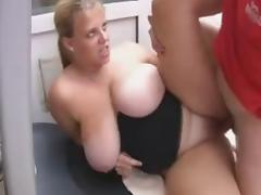 Plump British milf with big knockers fuck a guy