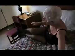 Wrinkly old hag fucks young cock