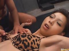 Mimi Hot Asian model likes fucking with two guys