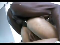 Black guy vigorously fucks a white ass!!!