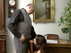 Young Girl sucked Old Man