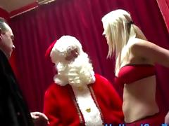 Real Dutch whore rides Santas cock
