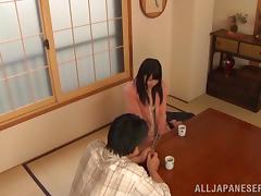 Amazing Japanese Amateur With Long Hair Giving A Superb Blowjob
