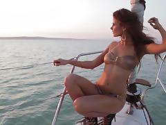 Boat, Bikini, Boat, Erotic, Glamour, Nude