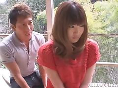 Horny Japanese Model With Natural Tits Enjoys Outdoor Banging