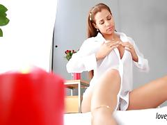 Masseuse Satin Bloom both holes fucked