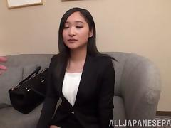 Fascinating Asian Doll With Long Hair Gets Feasted Doggystyle