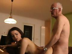 Old and Young, 18 19 Teens, Blowjob, Boobs, Brunette, Grandpa