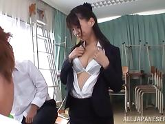 Tsukasa Aoi In Thong Gets Huge Cumshot In Bukkake Fuck Scene