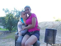 Katerina's big natural tits jiggle as she rides a stone-hard wang