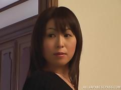 Horny Asian milf gets her pussy licked and fucked from behind