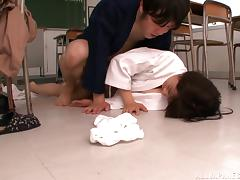 Skinny Asian Rimu Sasahara gets her pussy fucked deep