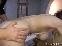 Big boobed hot Japanese milf gets a hard fucking