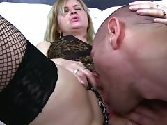 Mom and Boy, Blonde, Fucking, Granny, Mature, MILF