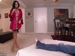 Nadia Capri gets her coochie fucked deep in foot fetish video